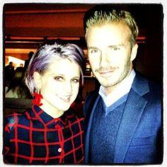Kelly Osbourne Meets David Beckham