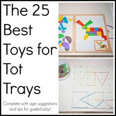 Best Toys for Tot Trays from Life Lesson Plans #totschool #tottrays
