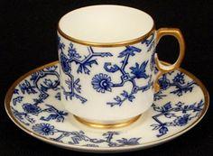 Antique George Jones Demitasse Cup and Saucer