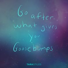 Sharespiration #5 - Go after what gives you goosebumps