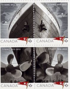New Titanic Postage Stamps From Canada Post.