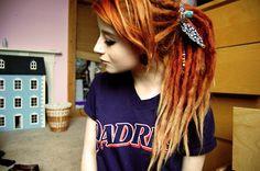 hairsyles for dreads white girls | alternative, alternative girl, cute, dread, dreads