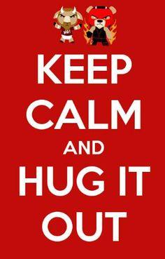 Keep Calm, and Hug It Out! #WWE #Kane #DanielBryan #TeamHellNo