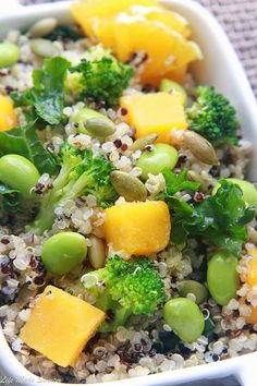 Quinoa Salad with Roasted Butternut Squash and Wasabi Citrus Dressing