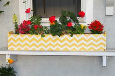 love this flower box...from The Rooster and the Hen