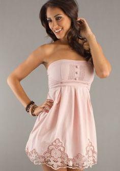 Strapless Short Summer Dress