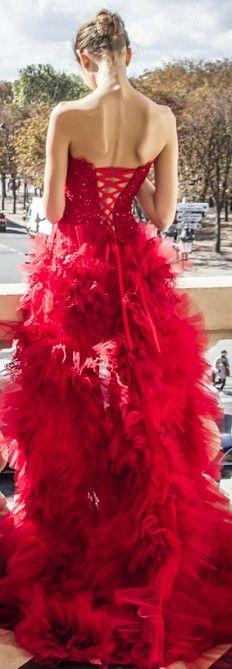 Corset back gown / zuhair murad