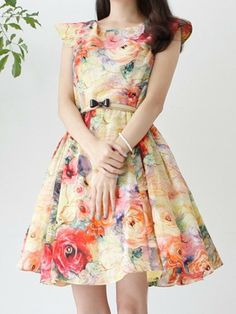 Floral Bow Dress.