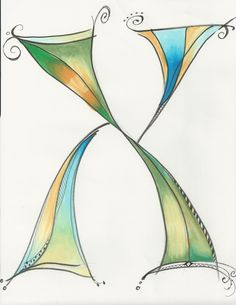 Dabbling in whimsical Hebrew letters. Hebrew Aleph by Allison Carter