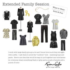 what to wear- yellow, gray, black