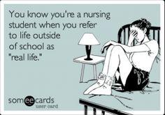 """What is """"real life?"""" #NursingStudents #Nurses #NursingSchool"""