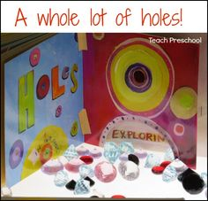 A whole lot of holes! Lots of different ways to explore, create with, and discover making holes.