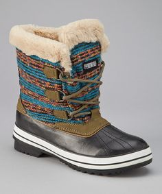 Take a look at this Blue & Green Pend Oreille Duck Boot - Women by Pend Orielle on #zulily today!