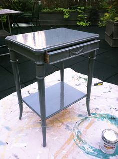 good tip: rustoleum for painted tables