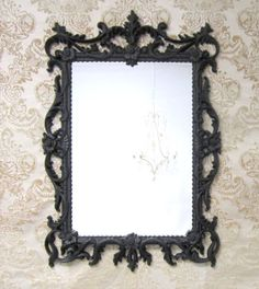 Black HOLLYWOOD REGENCY MIRRORS For Sale 29x19 by RevivedVintage, $164.00