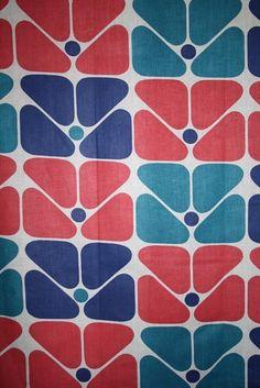 Retro fabric on Etsy