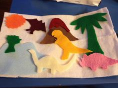 Dinosaur felt board - I made this tonight for our car trip.