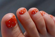 orange toenails!