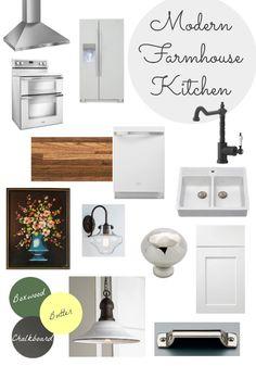 Dear Emmeline: 1910 Home Renovation: Modern Farmhouse Kitchen Design Board