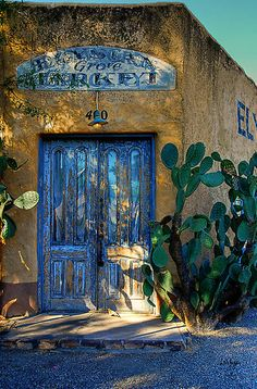 Someday I will have a house with a corner door... Tucson, Arizona. By Lois  Bryan