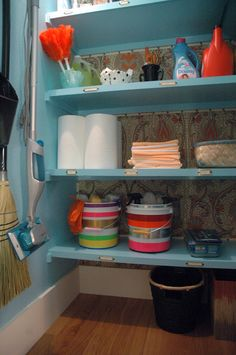 Paint Buckets with Colorful Duck Tape by LGN