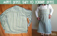 The Craft Patch: Men's Shirt to Toddler Dress---I Did It!!!