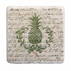 Pineapple Hospitality Stone Coasters.
