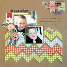 #papercraft #Scrapbook #layout     folded chevrons technique tutorial