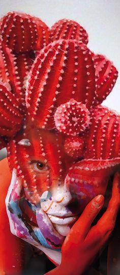 antoniomora, couleur roug, ap art, antonio mora, inspir, design art, red cactus, red hot, projet art