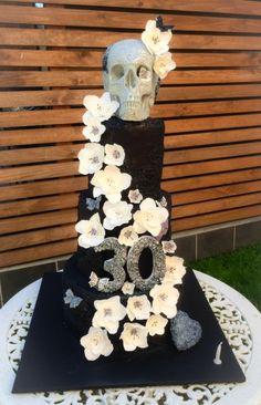 30th Birthday Skull Cake