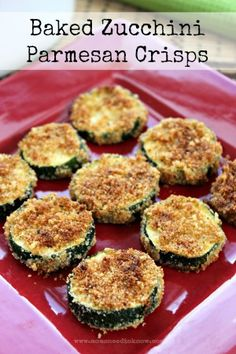 Homemade Zucchini Crisps with Parmesan!