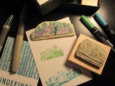 Stamp carved by Lauren Reeves