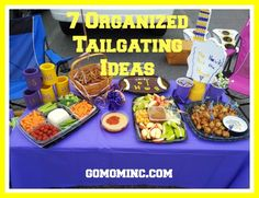 Are you ready for some football? 7 Organized Tailgating Ideas | gomominc.com #fall #teammom
