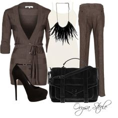 """Leather Necklace"" by orysa on Polyvore"