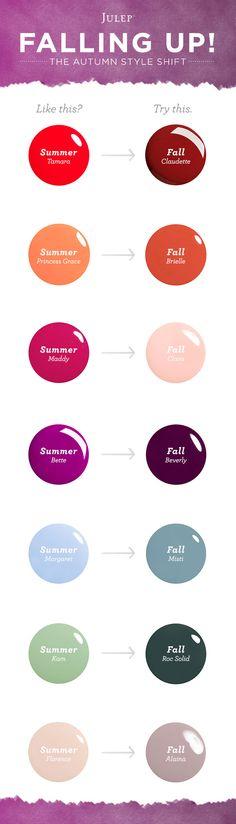 Seniors! Check out the new fall colors for your photoshoot! Sooooo pretty :) #julep #julepmaven #fallnails