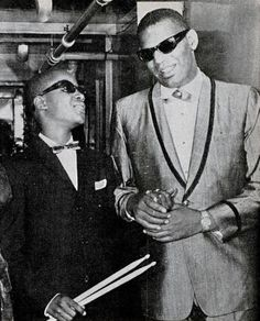 Ray Charles and (then) Little Stevie Wonder, 1960s