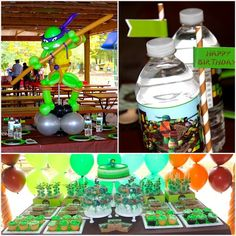 TMNT Birthday Party with Lots of Awesome Ideas via Kara's Party Ideas | KarasPartyIdeas.com #TeenageMutantNinjaTurtles #PartyIdeas #Supplies