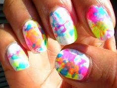 Tie-Dye Nails.