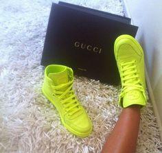 Neon GUCCI Sneakers ☻                                                                                                                                                                  ⇜•ṄεΦЙ❉€яᗛƶΣ•⇝