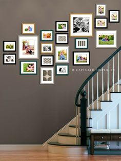 staircase wall decorating ideas on Pinterest