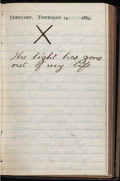 On Valentines Day in 1884, Teddy Roosevelt's wife and mother died within hours of each other. This was his diary entry for that Thursday.