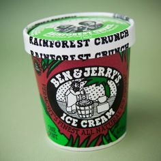 People first went nuts for Rainforest Crunch in 1989. The chunks of Rainforest Cashew & Brazil Nut Buttercrunch Brittle in Vanilla Ice Cream were not only tasty, but they aimed to help save the rainforest! It has since been retired, but we'll never forget this little pint with a big mission.
