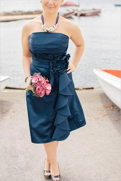navy blue bridesmaid dress l http://eventsbyclassic.com