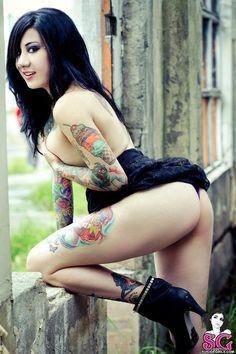 amaz tattoo, nita, art, sexi tattoo, tattoo girl, beauti, babe, ink, ice cream cones