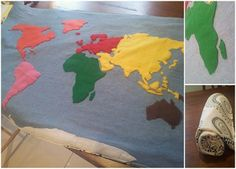 how to make a felt map of continents