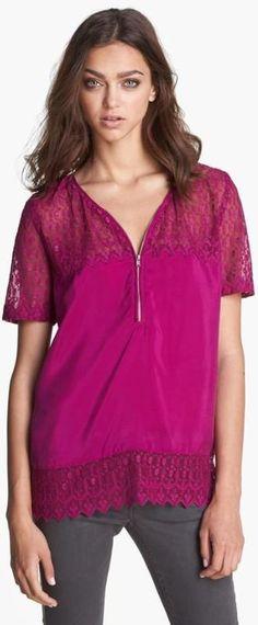 Love! Lace & Silk Top.