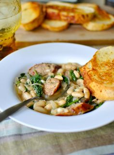 Chicken Sausage and White Bean Stew food recip, sausages, chicken sausag, white chicken chili, white bean, sundri tomato, tomato chicken, bean stewbit, tomatoes