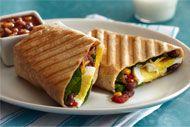 Easy breakfast burrito panini...