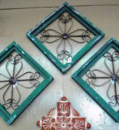 Turquoise Shabby Chic Wall Decor   Barrio Antiguo Furniture