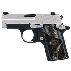 "SIG Sauer P238 Special Edition Semi Automatic Handgun .380 ACP 2.72"" Barrel 6 Rounds Alloy Duo Tone Black Wood Grips Night Sights"
